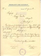 Nagy Mariska úhölgy RUE Hölgy sport bizotsságának eloadói megbízása 1914.