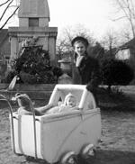 Hosök szobra 1940. Forrás: Fortepan