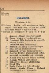 Telefonkönyv 1917