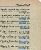 Telefonkönyv 1942