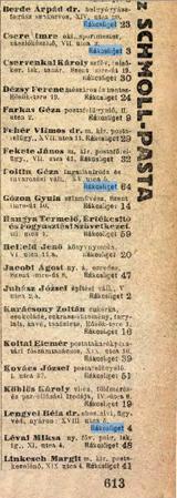 Telefonkönyv 1943