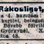 VII. utca 4. eladó ház 1904. 186. szám