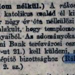 Katolikus templom építés 1904. 3 szám