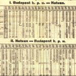 1908 menetrend