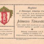 RAC meghivó 1938