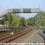 Rakosliget vasútállomás a felüljáróval. 2002. május