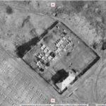 A zsidó temető légifotón