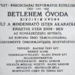 Rákoscsba, Betlehem Óvoda építőinek emléktáblája Péceli út 197.