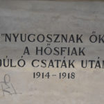 Rákosliget, Hősök tere I. világháborús szobor talapzatán